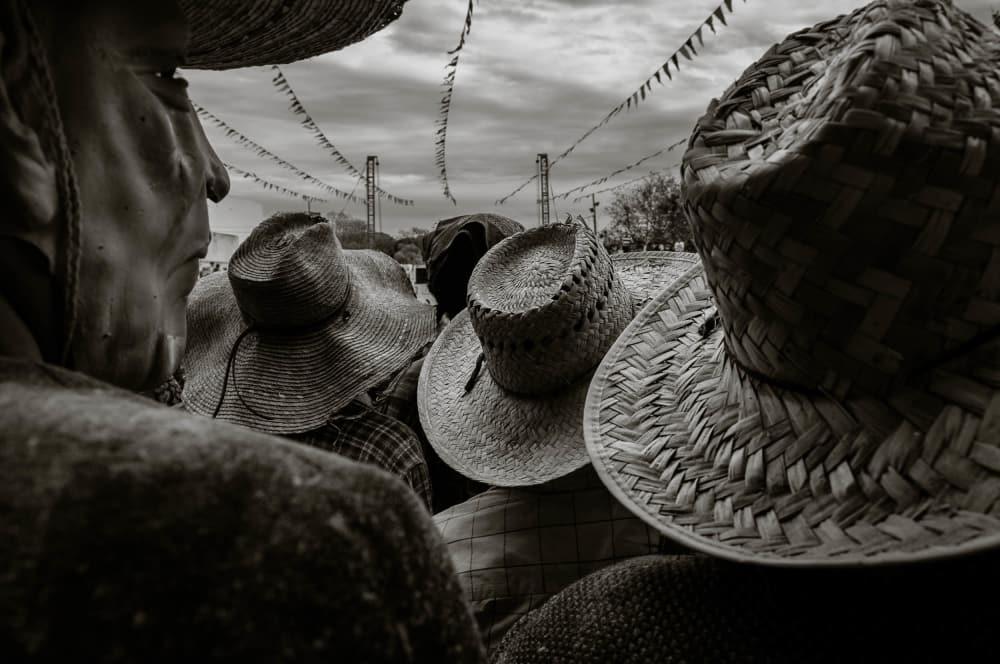 Zayacos gather in the bullring in Ajijic, Jalisco, Mexico.