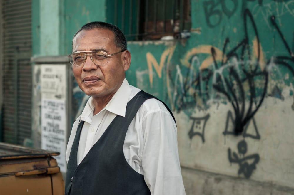 Portrait of musician in Guadalajara, Jalisco.