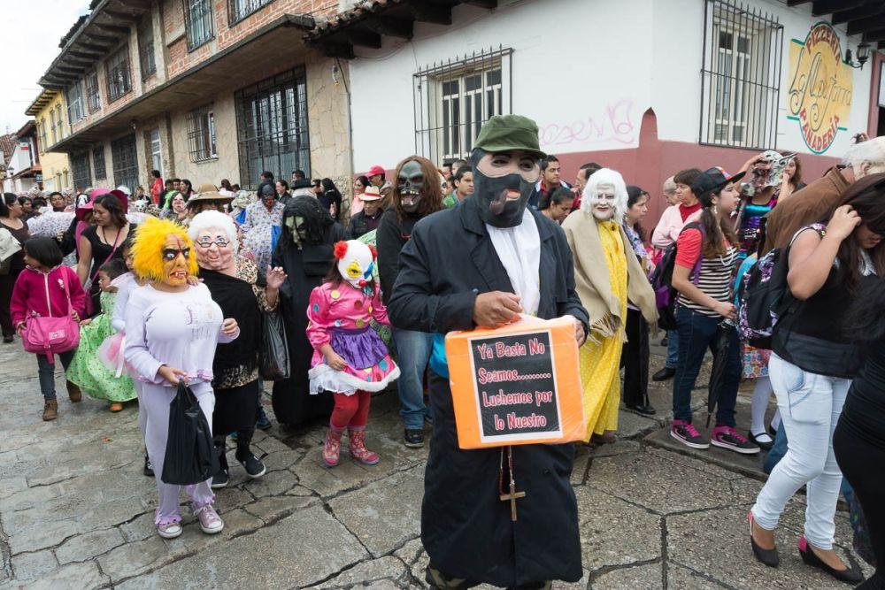 Subcomandante Marcos costume during the Fiesta de la Merced in San Cristóbal