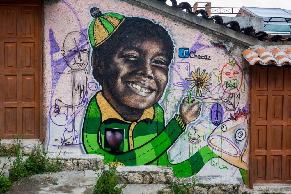 San Cristóbal de las Casas street art by Designer Checoz
