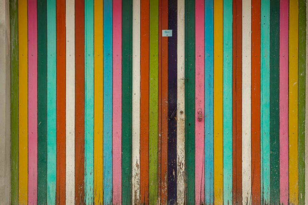 A colorful door in Chiapas, Mexico