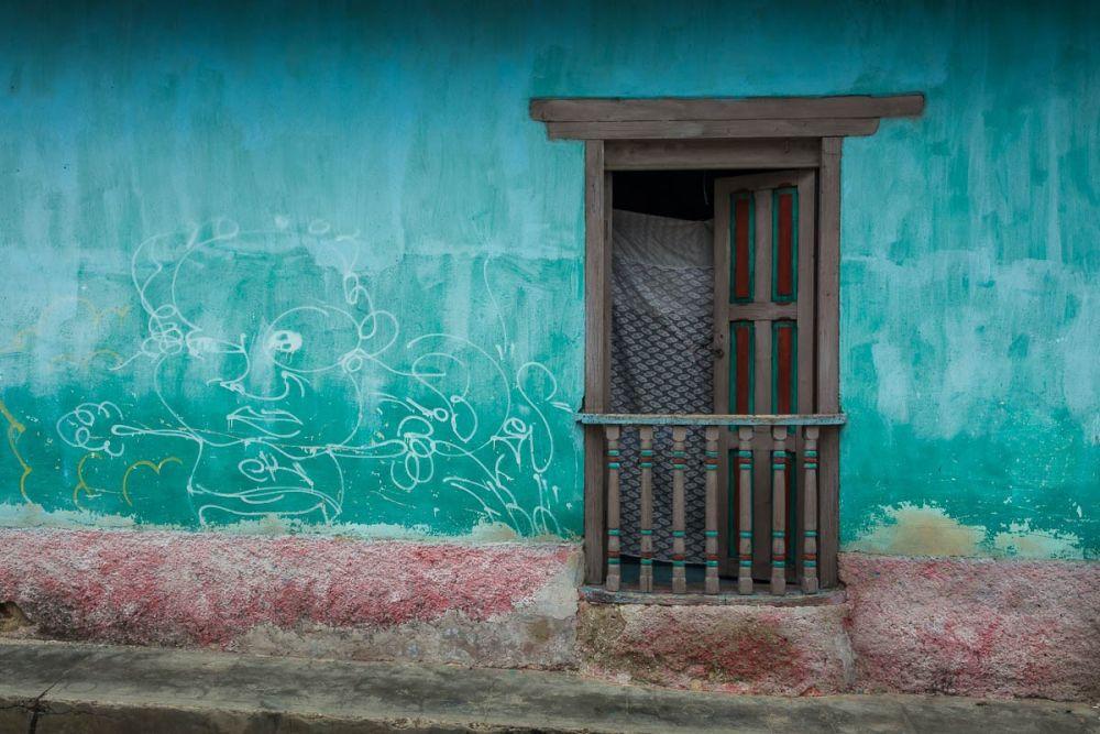 Window/door on street in San Cristóbal de las Casas, Chiapas