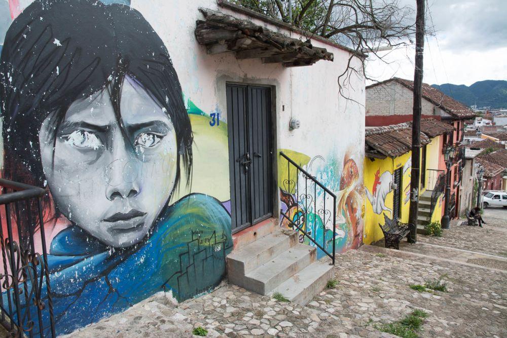 Street art in San Cristóbal de las Casas, Chiapas, Mexico