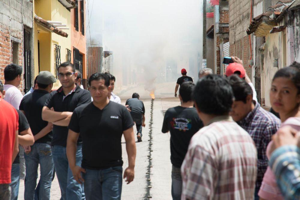 Bombas during the Fiesta de la Merced in San Cristóbal de las Casas, Chiapas