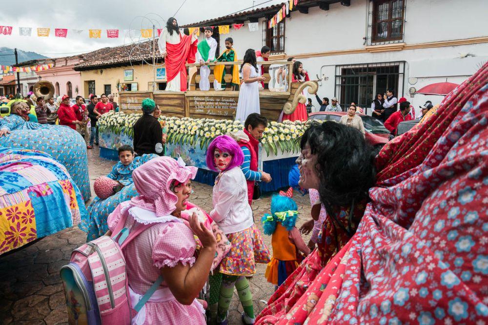 Los Panzones in the Fiesta de la Merced in San Cristóbal de las Casas, Chiapas, Mexico