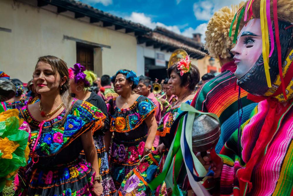 Parachicos in San Cristóbal de las Casas, Chiapas.