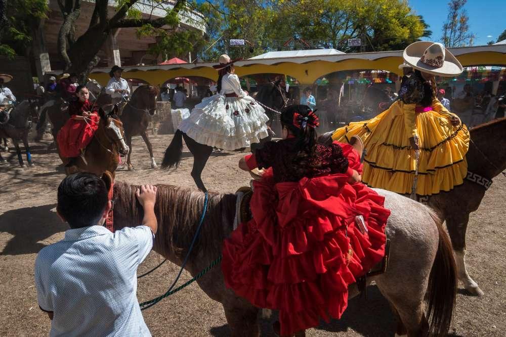 Celebrating a fiesta de quince años in Jalisco, Mexico.