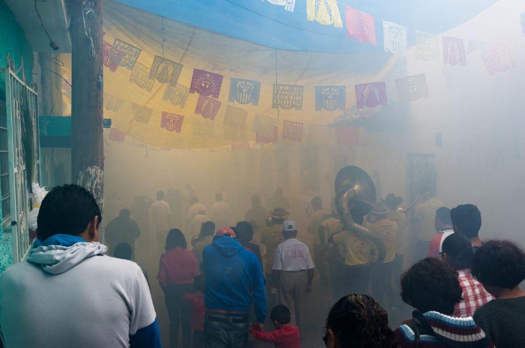Quema de Pólvora in the barrio de la Merced in San Cristóbal de las Casas, Chiapas
