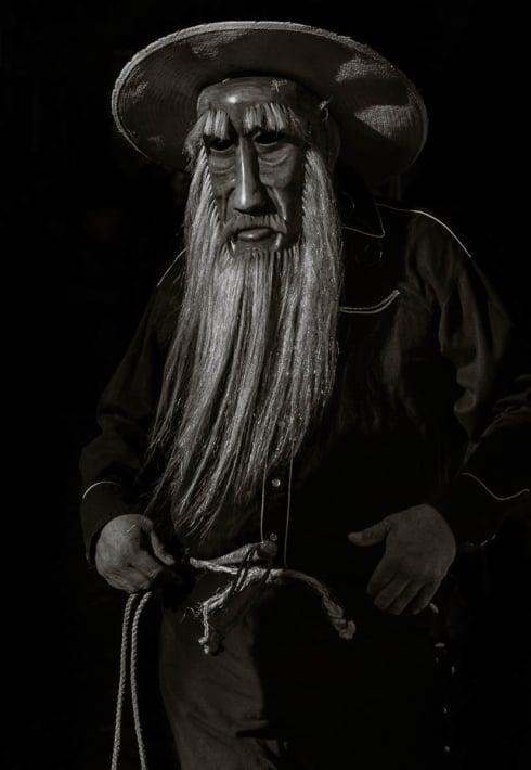 José Romero as a zayaco during the Fiesta of San Sebastián