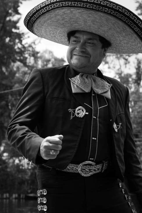 Mariachi singer at Xochimilco.