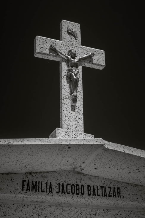 Cross on family tomb in Mezcala, Jalisco.
