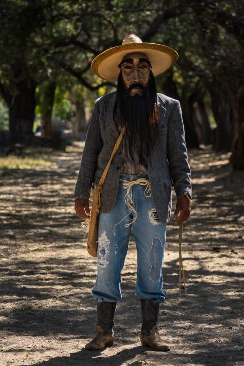 José de Jesus Romero Pérez dressed as a zayaco for Carnival in Ajijic, Jalisco, Mexico.