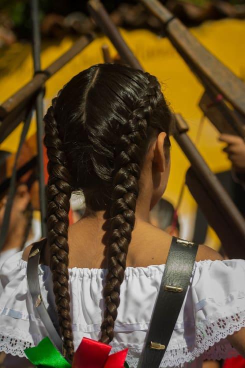 An adelita on El Día de la Revolción in Ajijic, Jalisco, Mexico.