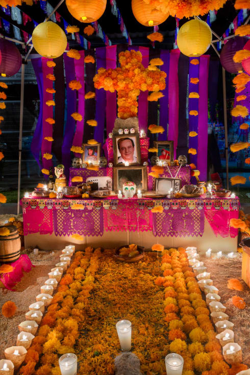 Day of the Dead Altar in Ixtlahuacan de los Membrillos, Jalisco, Mexico.