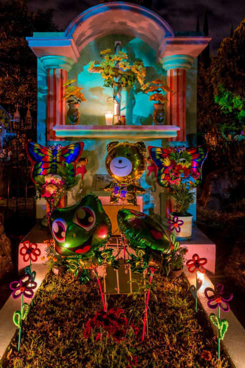 Grave on Noche de los Angelitos, celebrated on November 1 to remember deceased children.