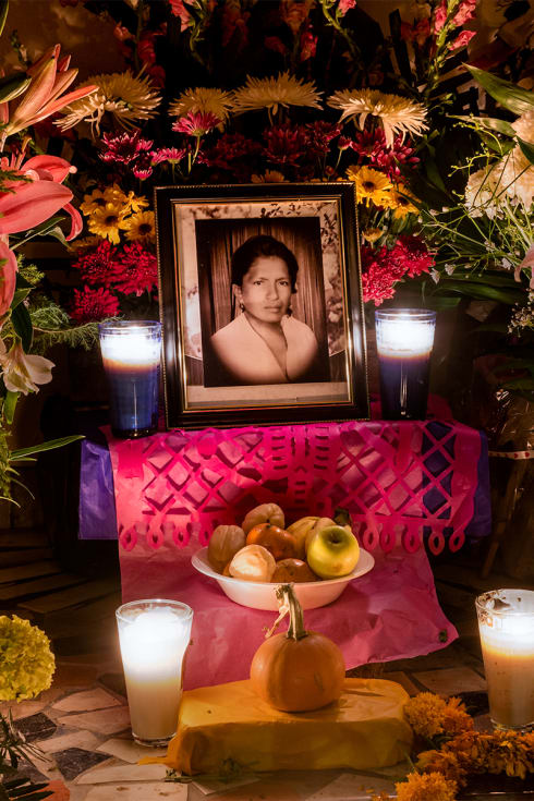 A Day of the Dead Altar for a woman from Ajijic, Jalisco.