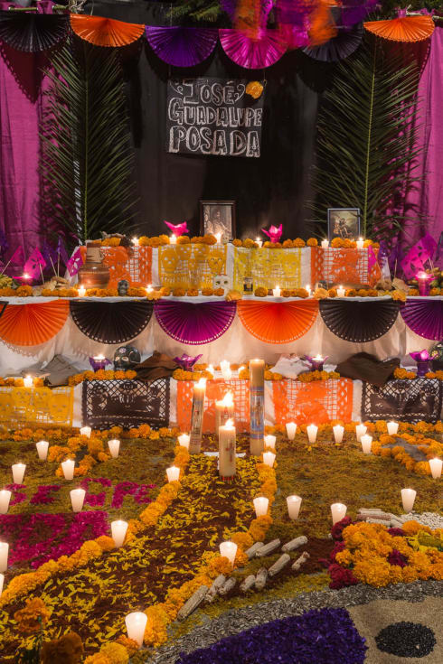 One of the Day of the Dead altars in Ixtlahuacán de los Membrillos, Jalisco.