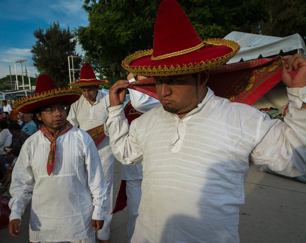 Dancers from Oaxaca in Chapala, Jalisco, Mexico.