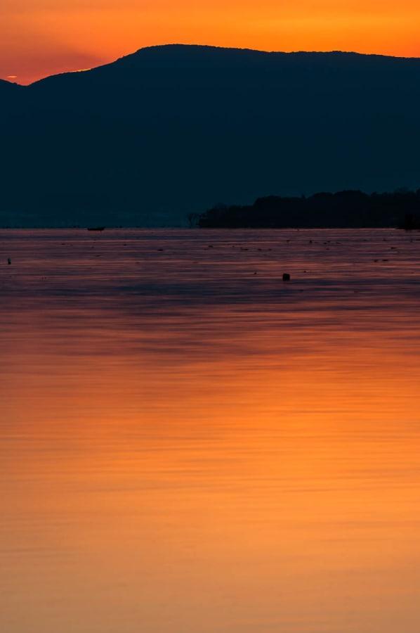 Sunset at Lake Chapala, Mexico