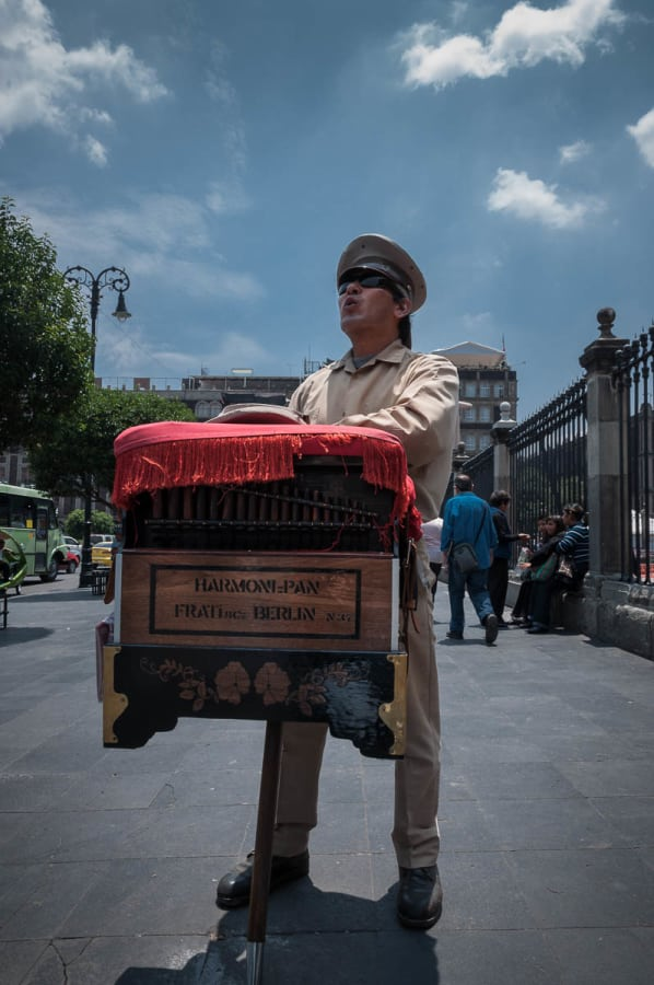 Mexico City organ grinder.