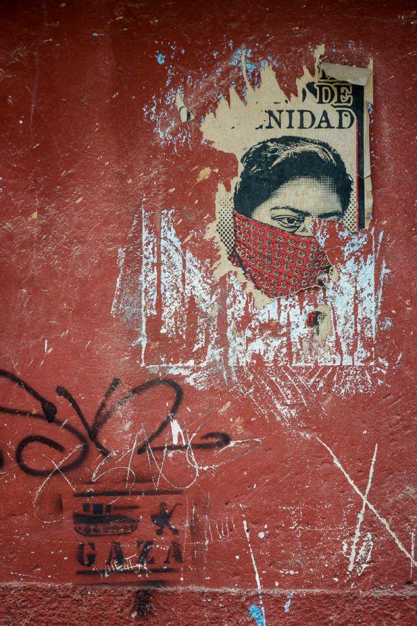Zapatista poster in Chiapas