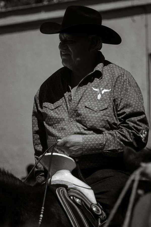 Cowboy during quinceañera parade in Ajijic, Mexico.