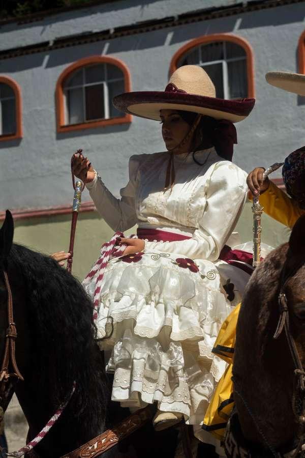 Anna Guitérrez on her horse after her quinceañera ceremony in Ajijic.