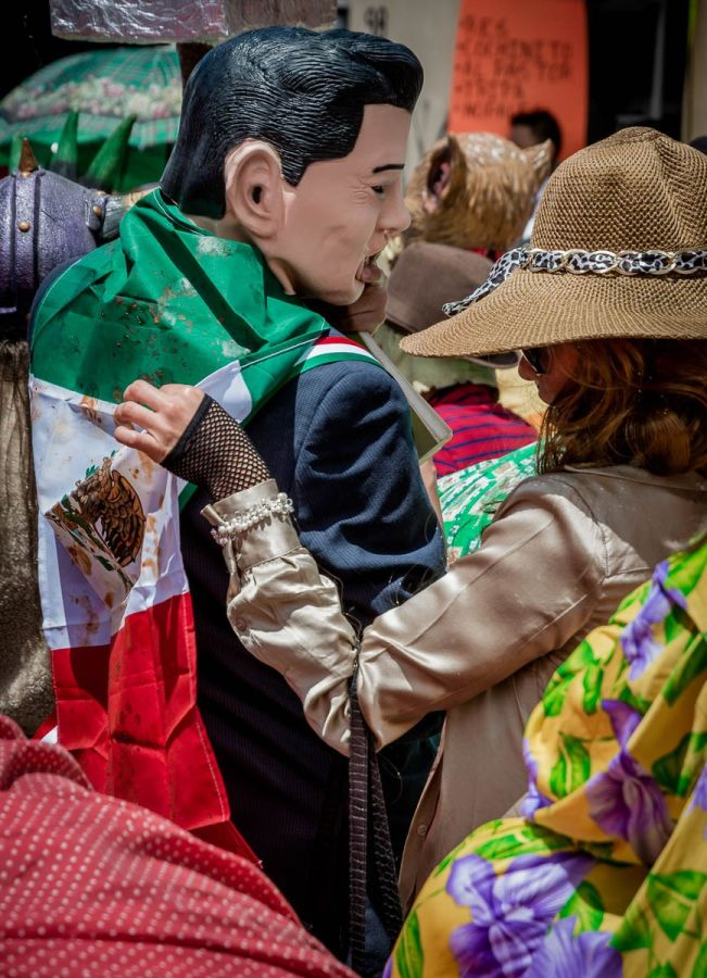 President Peña Nieto costume during a parade in Chiapas