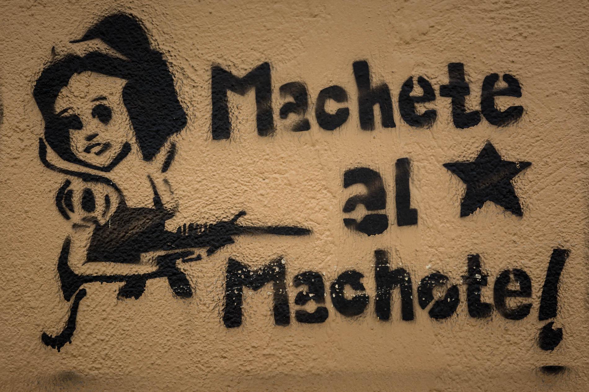 Anti-Machismo Graffiti in San Cristóbal de las Casas, Mexico