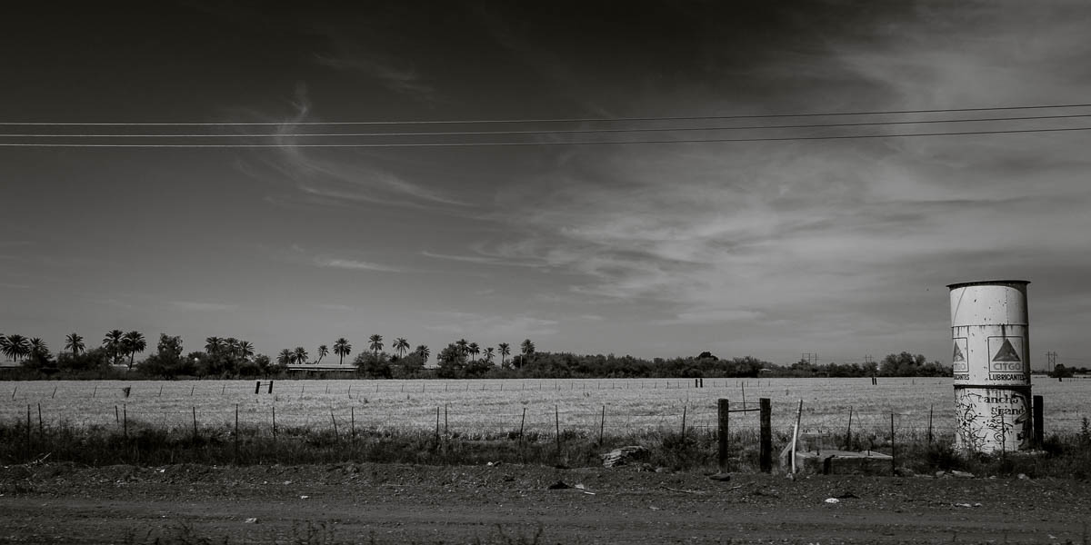 Highway 15, Mexico, roadside view
