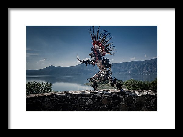 Aztec Dancer on Mezcala Island on Lake Chapala, Mexico