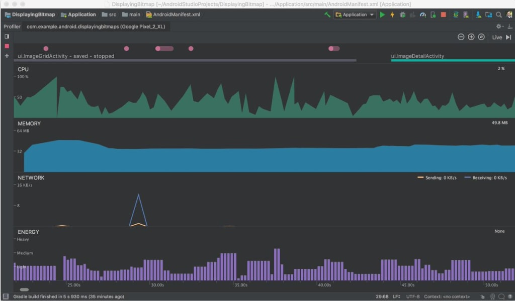 Android Studio Energy Profiler