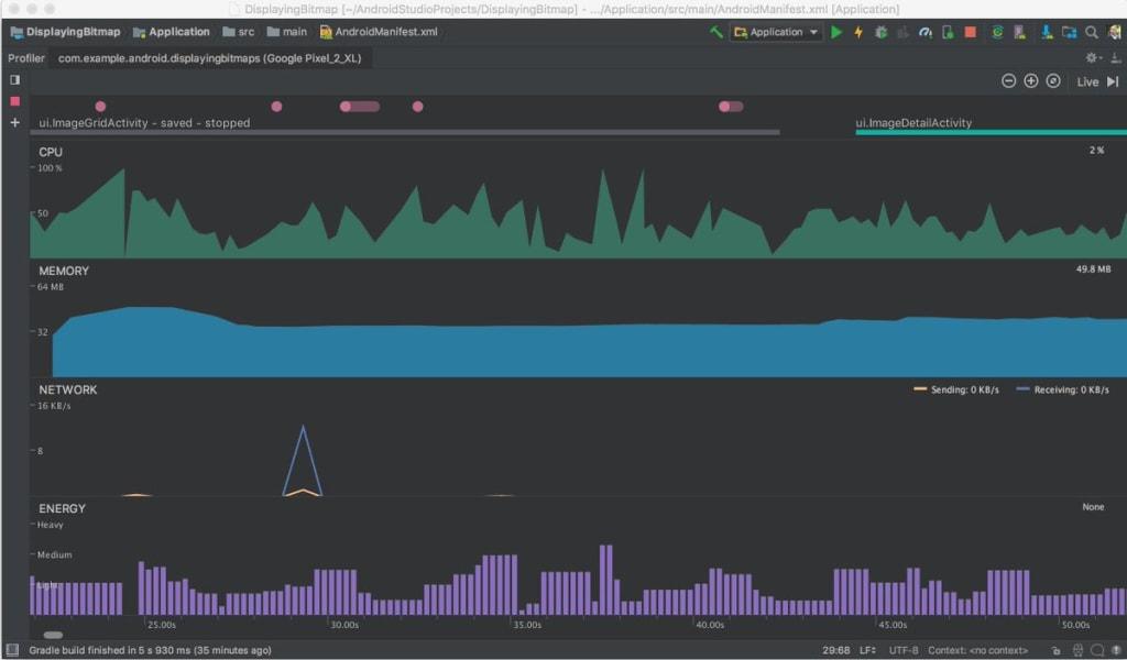 Android Studio Energy Profiler