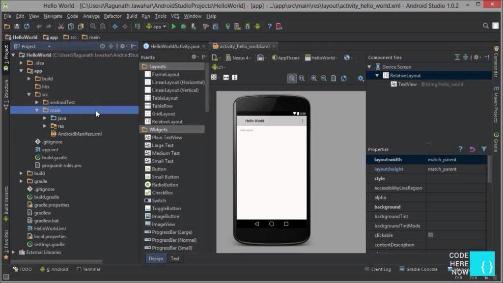Cấu trúc thư mục project trong Android Studio
