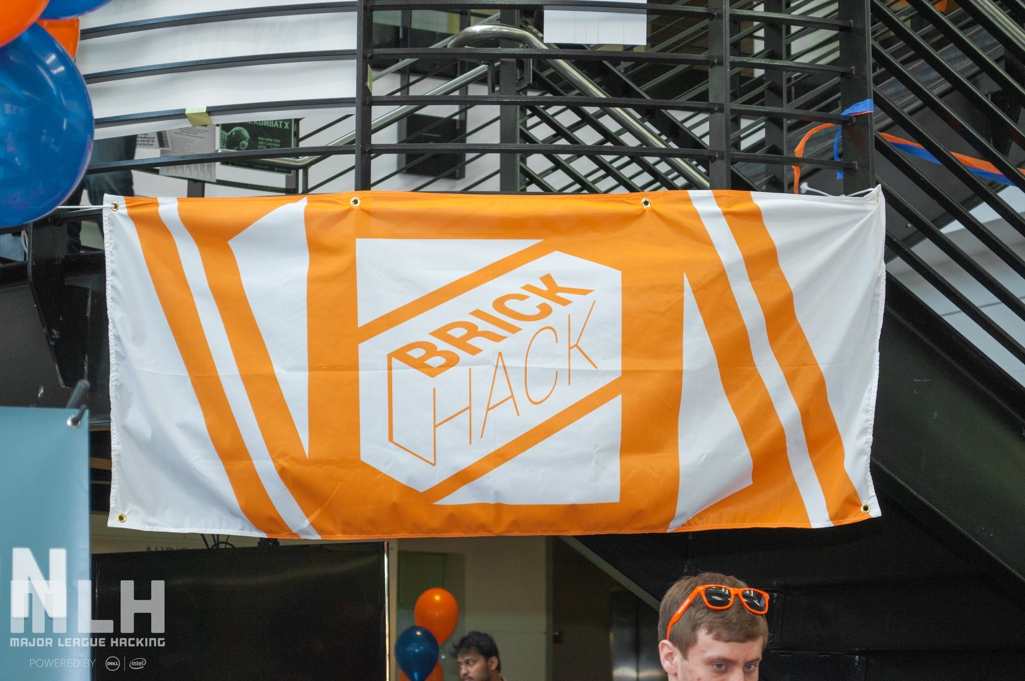 The beautiful BrickHack flag