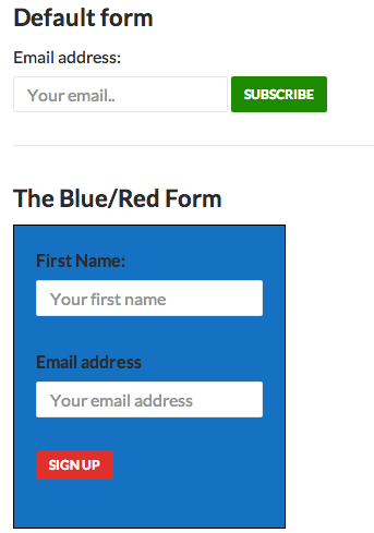 Two sign-up forms with completely different styles
