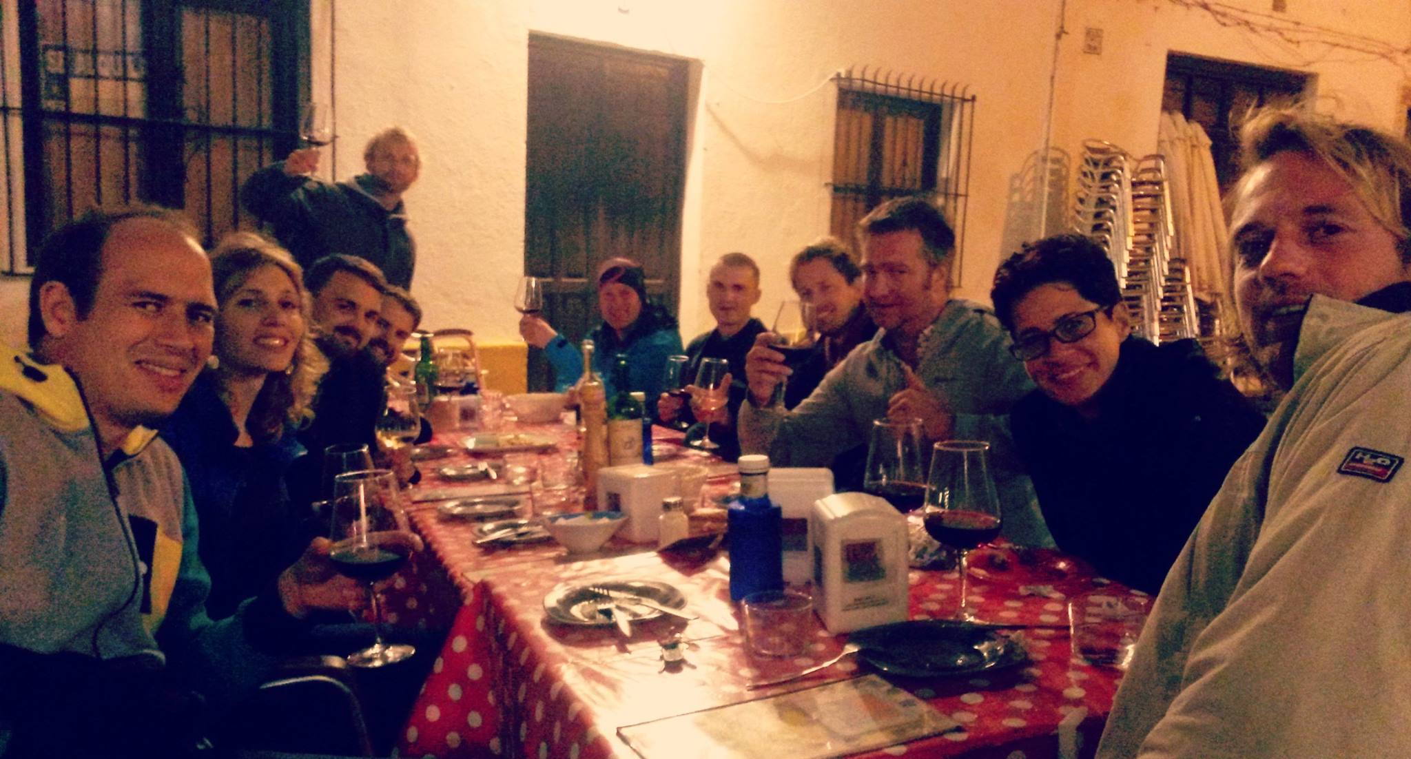 Group of online entrepeneurs on workation in Tarifa, Spain