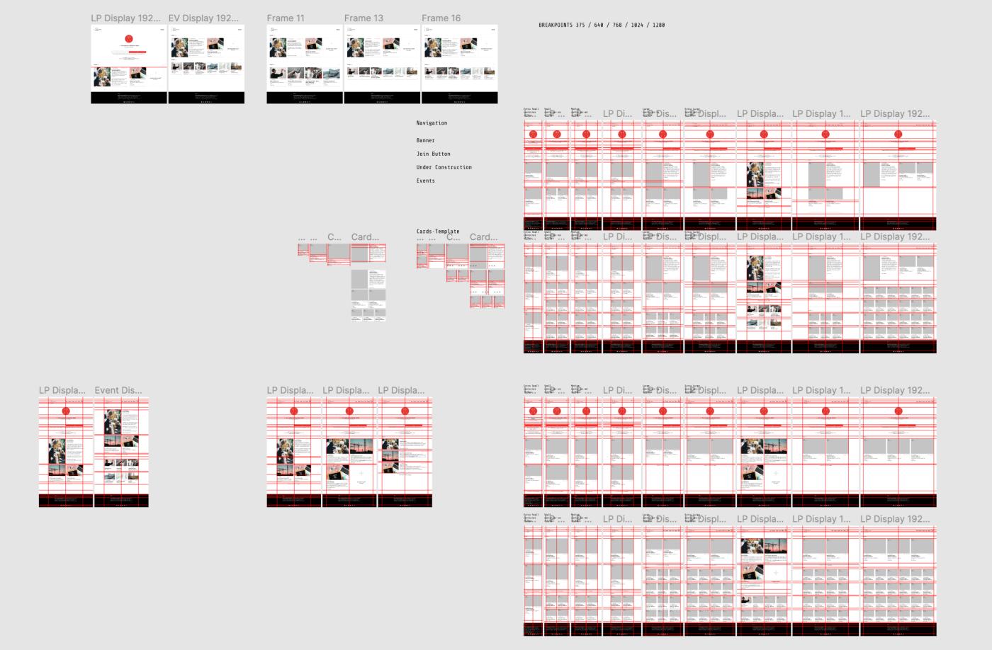 Screenshot of our Figma file