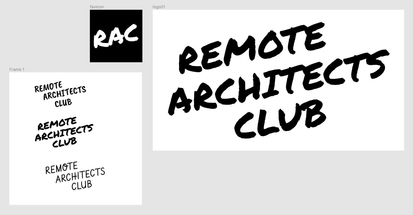 Logo studies and final logo for RAC