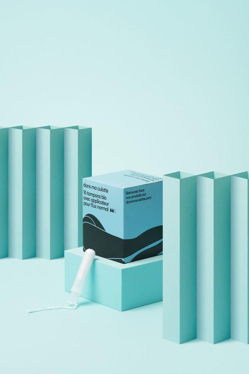 Pack de 16 tampons bio avec applicateur pour flux normal