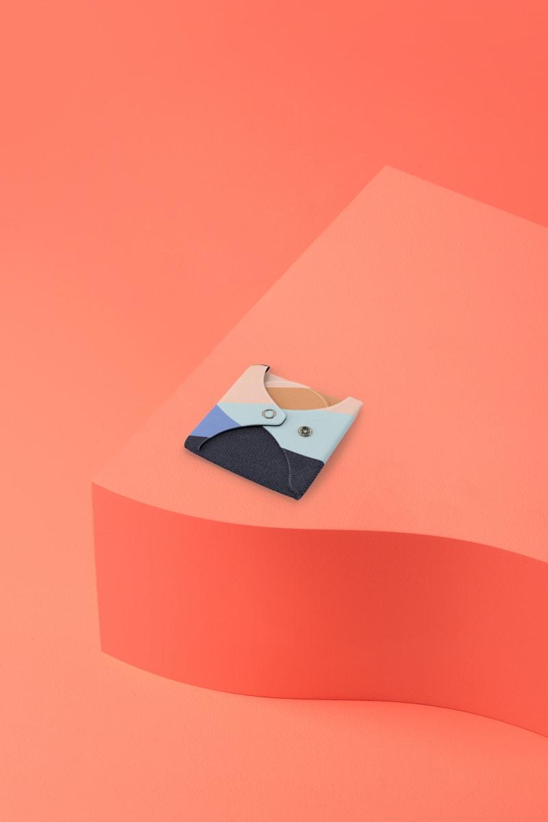 serviette hygiénique lavable en coton bio pour flux abondant - atlas - pliée