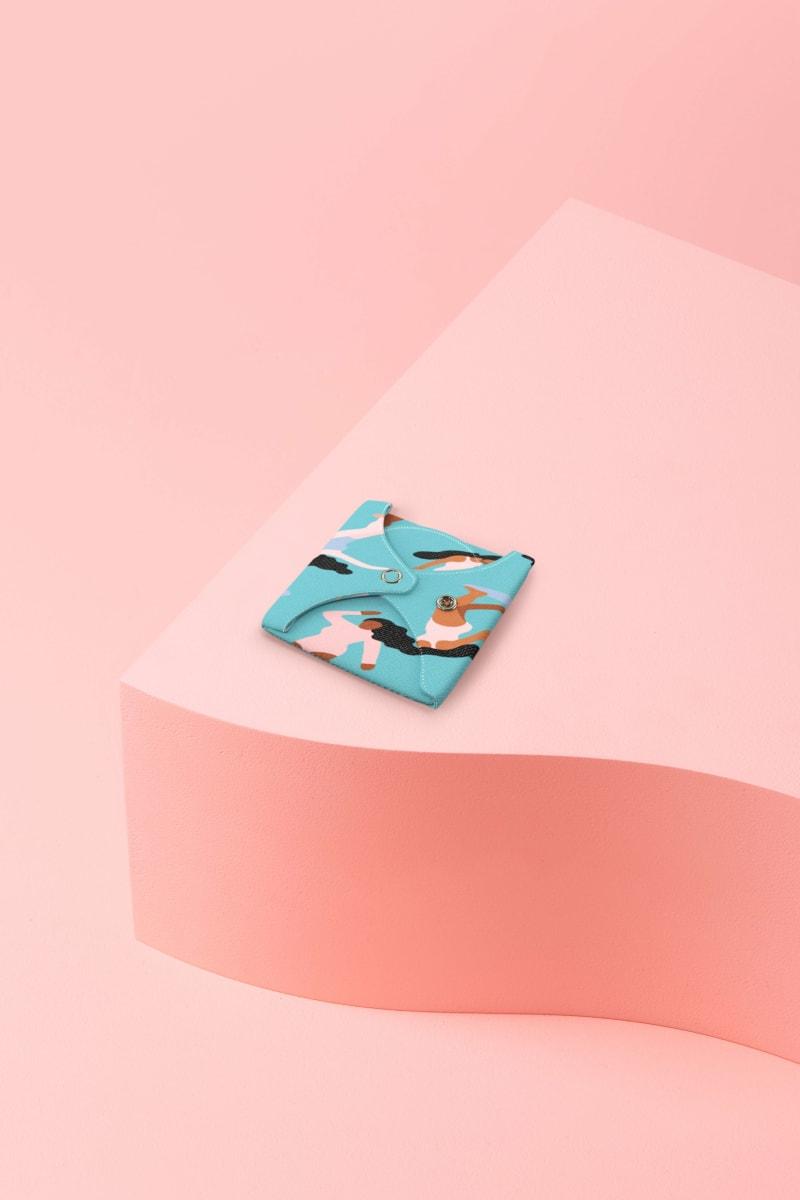 """Protège-slip lavable motif """"Sur la vague"""" pour les flux légers"""