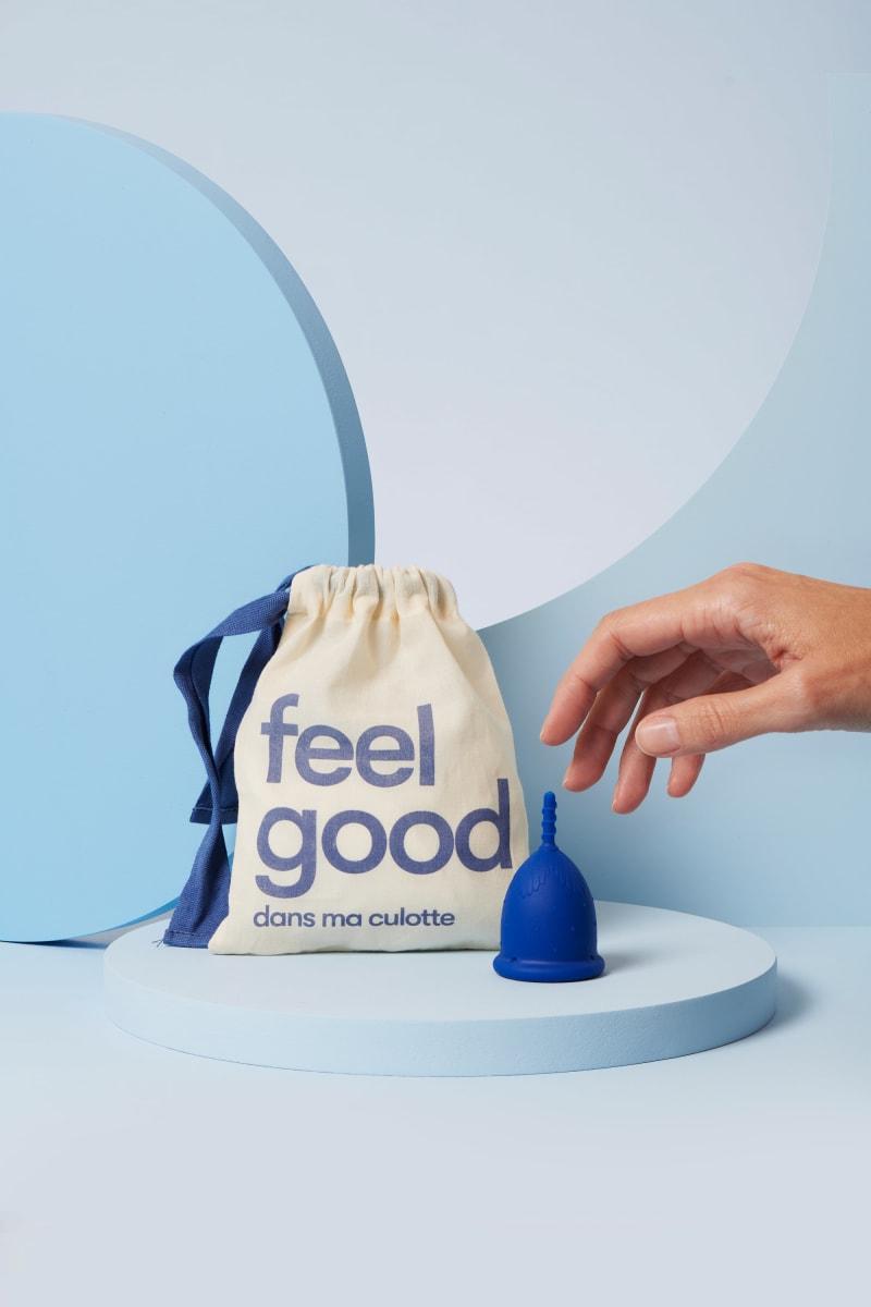 coupe menstruelle S bleu foncé pour flux léger à moyen - 2