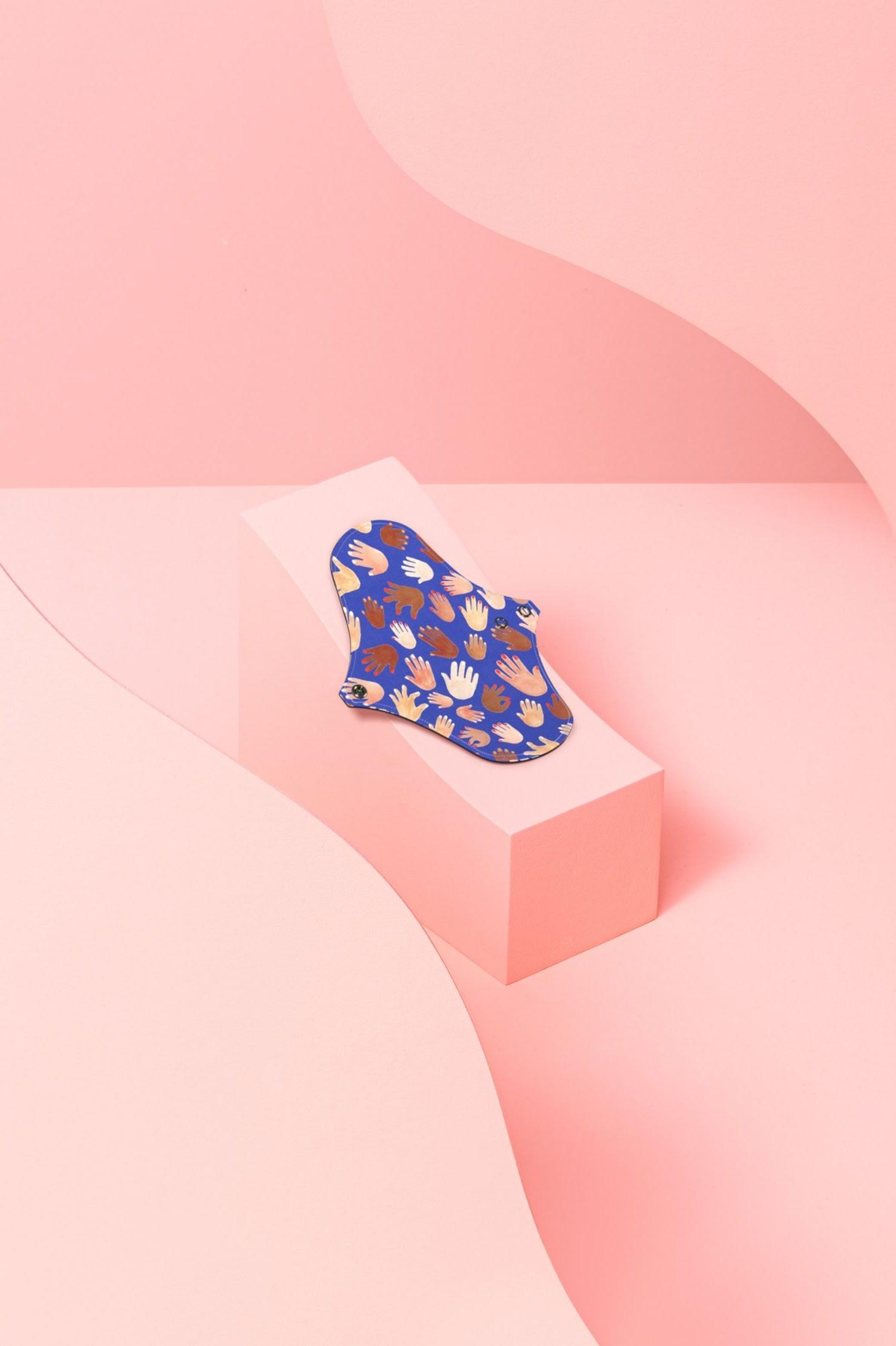 Protège-slip lavable motif Jeux de mains en coton bio