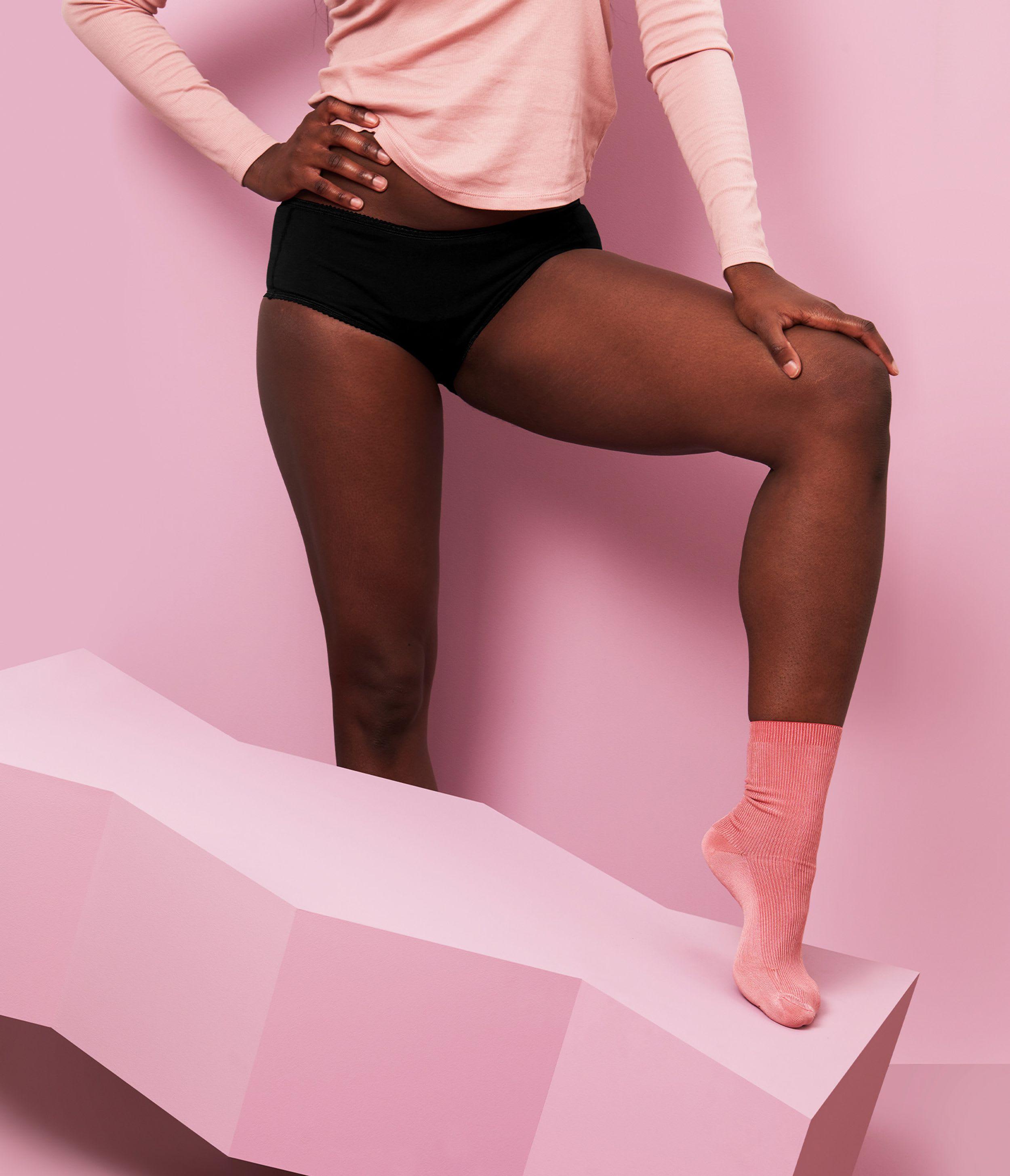 culotte menstruelle noir en coton bio