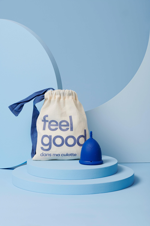 coupe menstruelle L bleu foncé pour flux abondant - 2