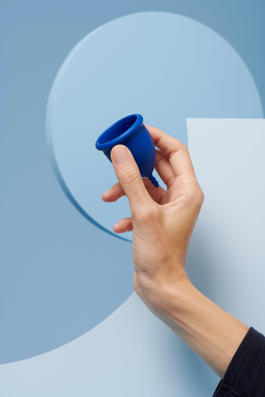 coupe menstruelle L bleu foncé pour flux abondant - 3