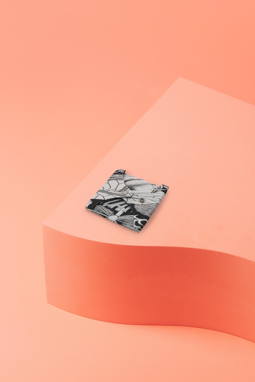 serviette hygiénique lavable en coton bio pour flux normal - flower tattoo - pliée
