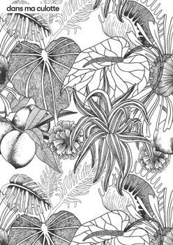 Le motif Flower Tattoo de Dans Ma Culotte à colorier