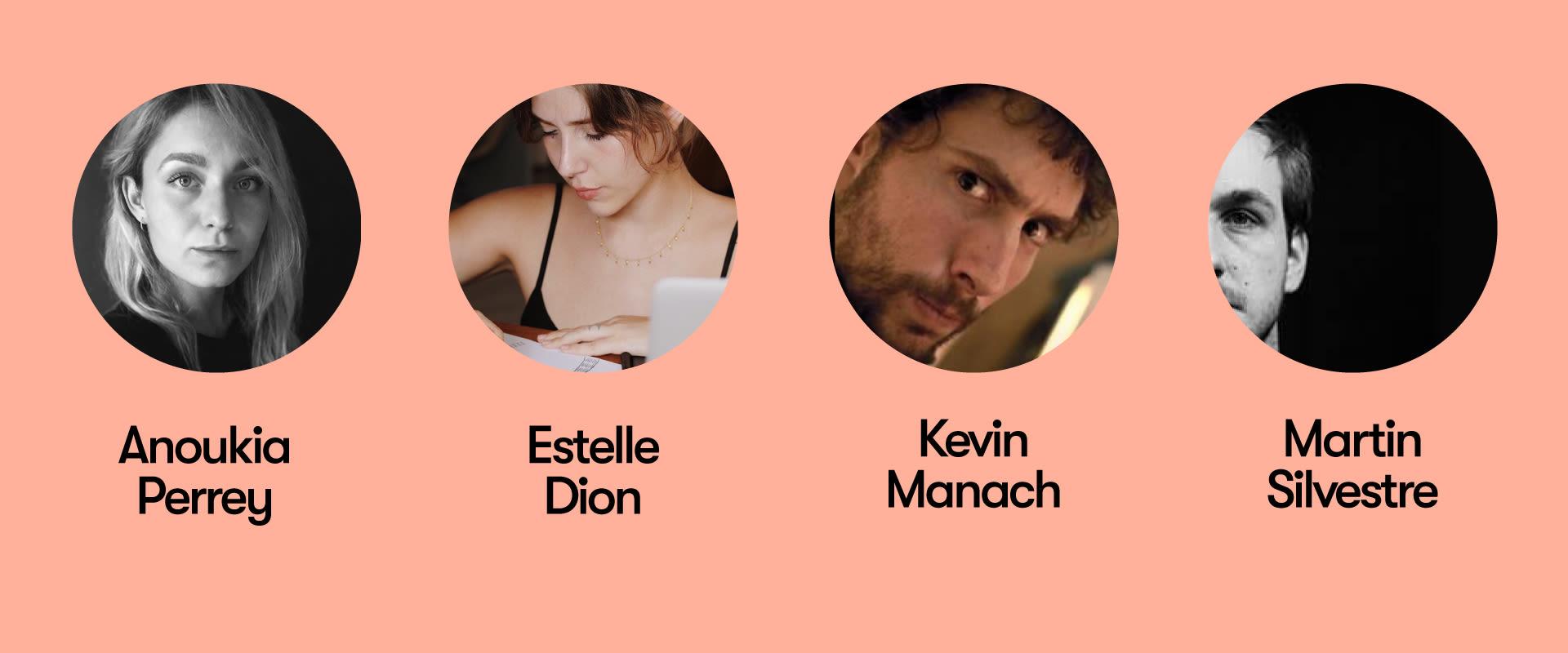 Photos des membres du jury du concours de cocréation